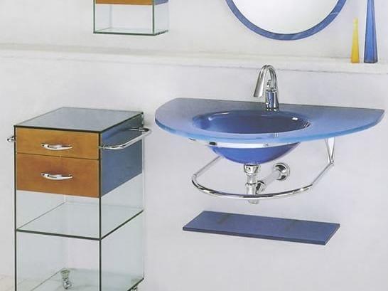 Single wall-mounted washbasin with towel rail BAGNI & CRISTALLI 2 - LASA IDEA