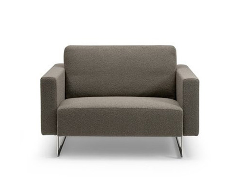 Fabric armchair with armrests MARE ROMANCE | Armchair - Artifort
