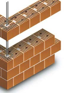 Loadbearing clay block for reinforced masonry Block for reinforced masonry - CONSORZIO ALVEOLATER