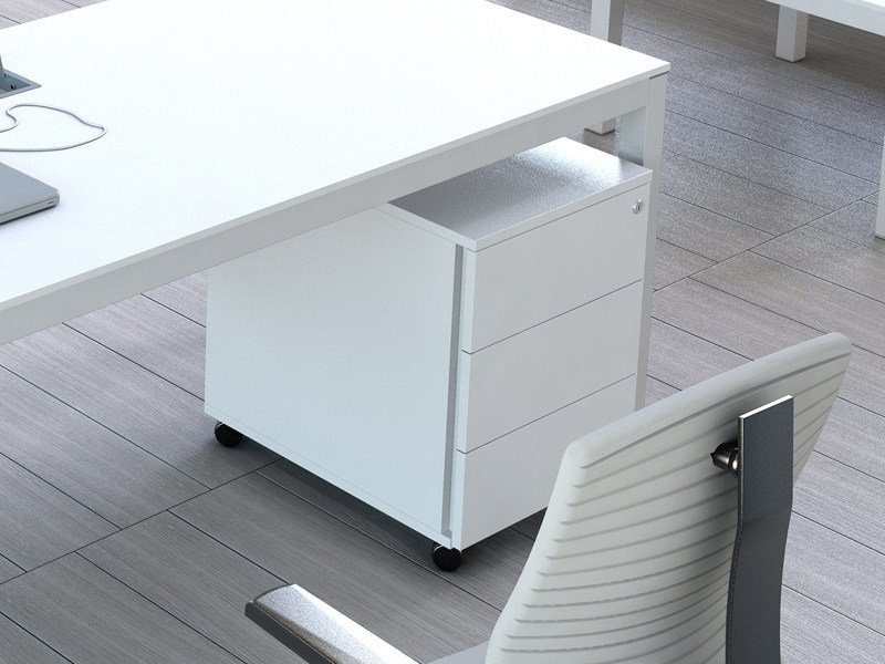 Wooden office drawer unit with casters IMPULS | Office drawer unit - MDD