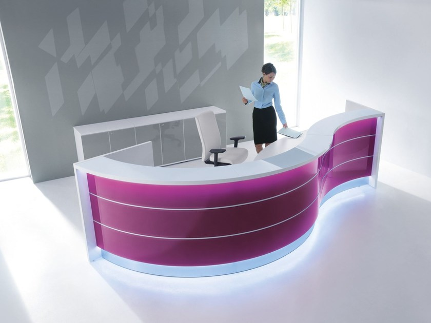 Modular reception desk VALDE | Modular reception desk - MDD