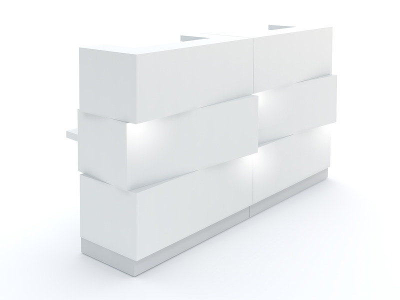 Reception desk with Built-In Lights ZEN - MDD