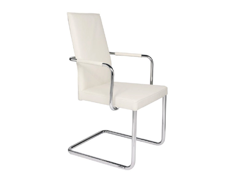 Cantilever high-back chair with armrests AURA | Chair with armrests - KFF