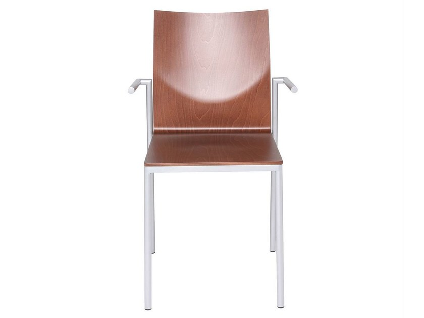 Ergonomic multi-layer wood chair with armrests GLOOH | Chair with armrests - KFF