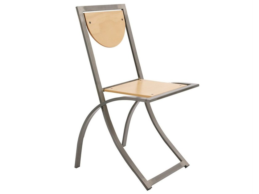 Steel and wood chair SINUS | Steel and wood chair - KFF