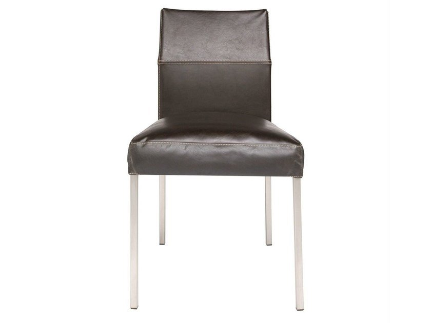Upholstered leather chair TEXAS | Upholstered chair - KFF