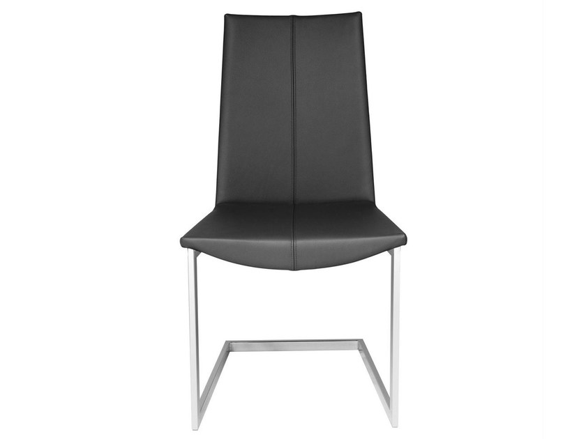 Cantilever leather chair TIBET | Cantilever chair - KFF