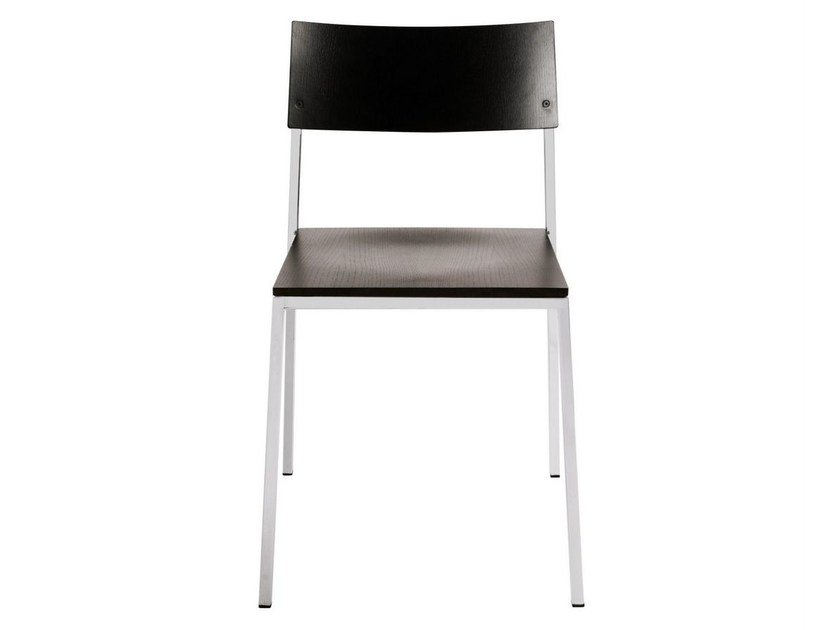 Steel and wood chair UNIT | Steel and wood chair - KFF