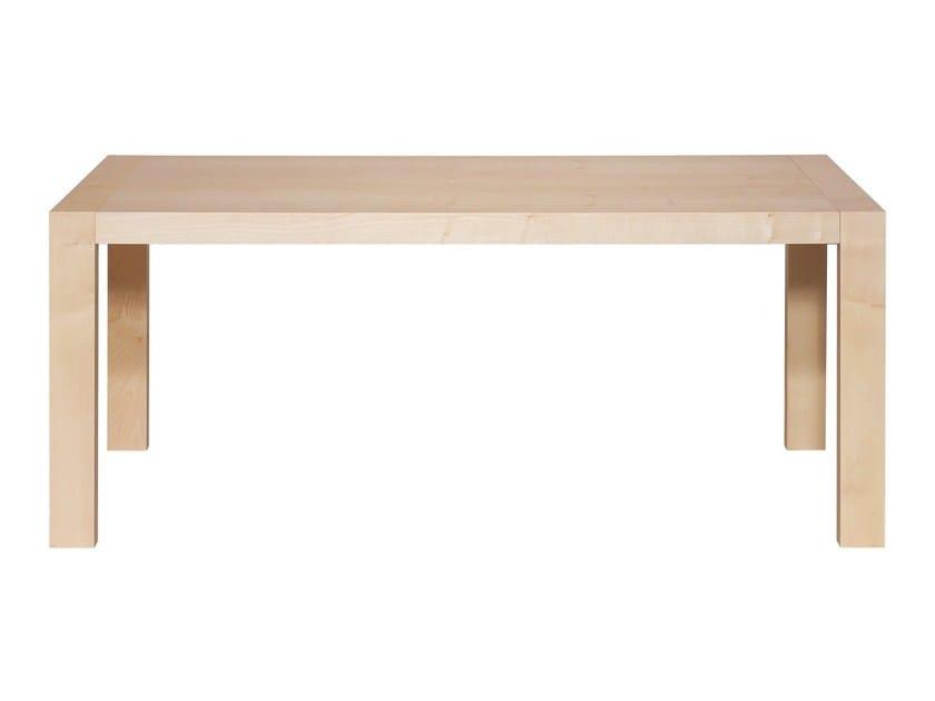Rectangular solid wood table AXIDA   Table by KFF