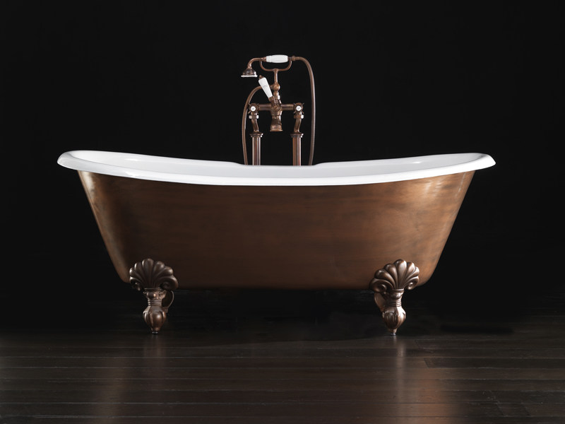 Freestanding cast iron bathtub ADMIRAL COPPER EFFECT - Devon&Devon
