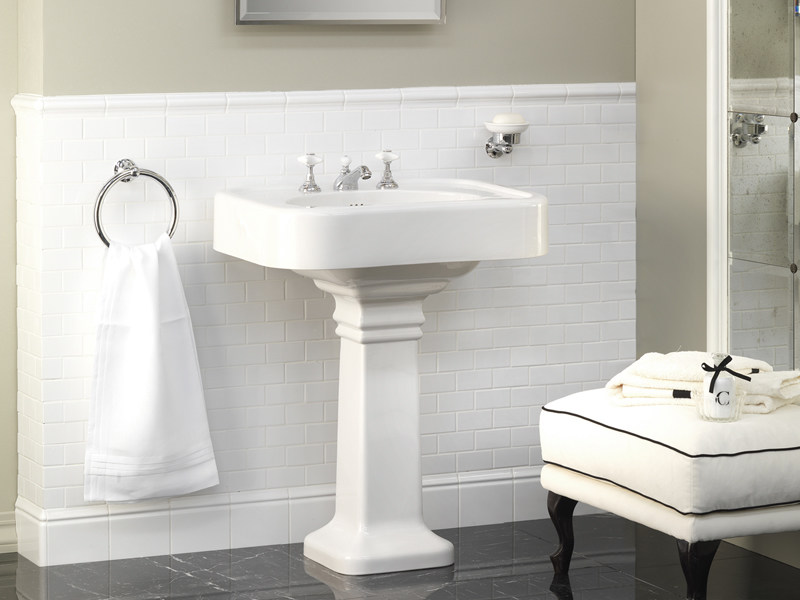 Pedestal washbasin BLUES | Washbasin by Devon&Devon