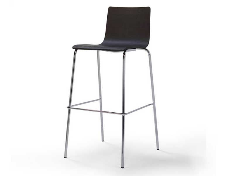 Counter stool with footrest FIBRA | Counter stool - Debi