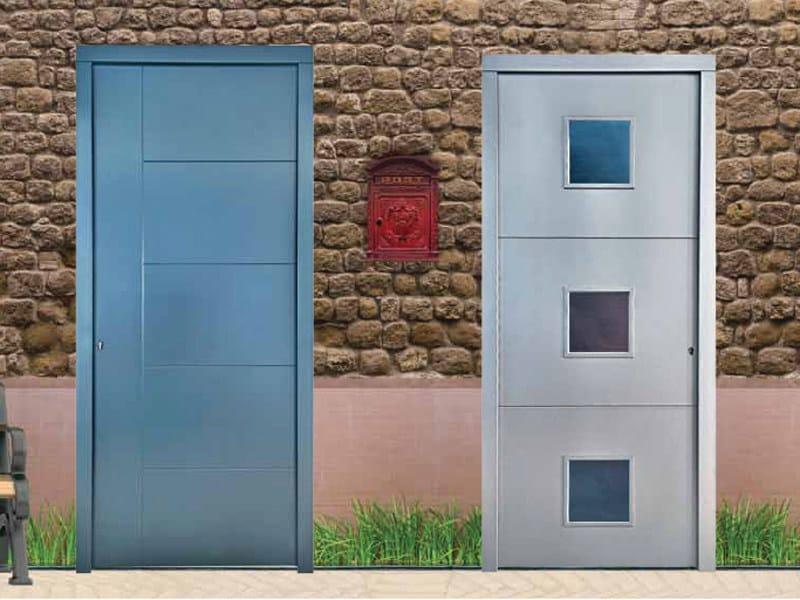 Porta d 39 ingresso per esterno con pannelli in vetro - Porte ingresso vetro ...