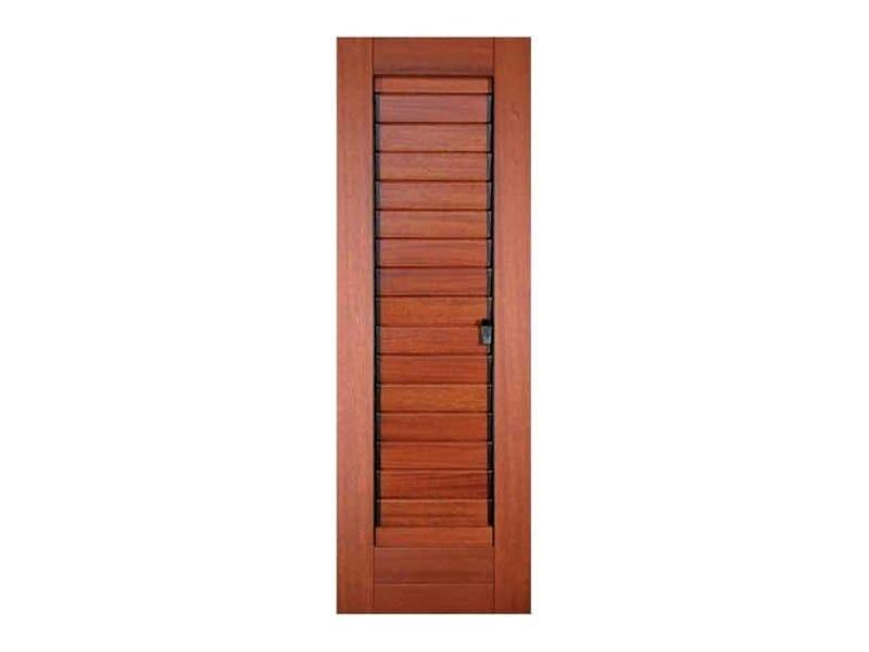 Adjustable slats shutter in Mahogany, Cherry color