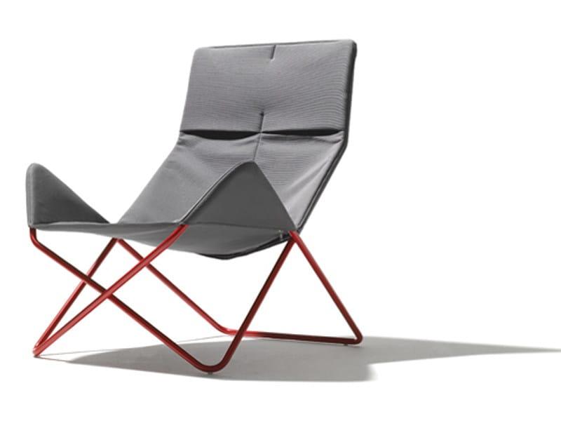 Steel armchair IN - OUT - Richard Lampert
