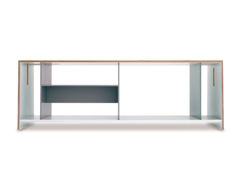 Lacquered wood veneer storage unit UNIT - Richard Lampert