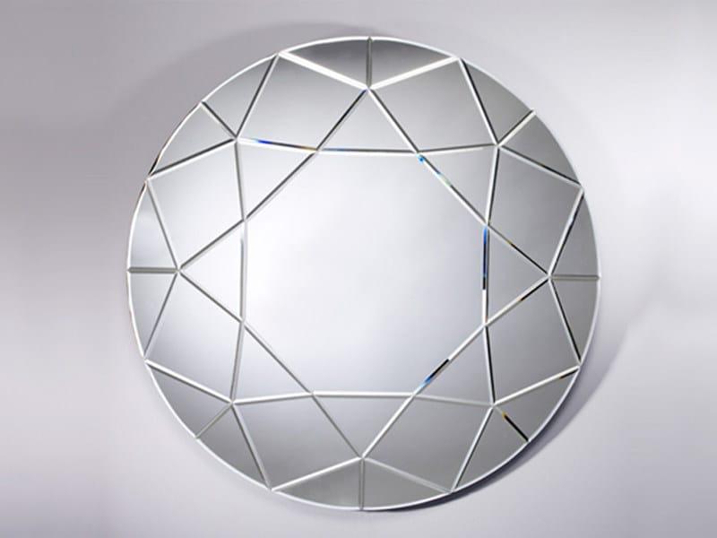 Round mirror DIAMOND ROUND - DEKNUDT MIRRORS