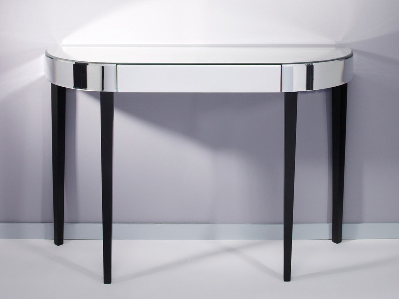 Mirrored glass console table with drawers SOFTLY - DEKNUDT MIRRORS