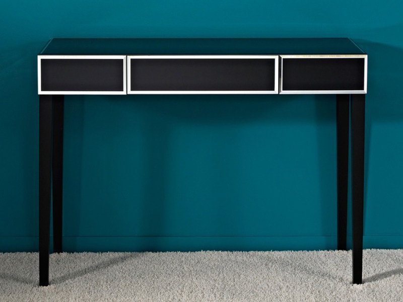 Rectangular console table with drawers COUTURE TABLE - DEKNUDT MIRRORS