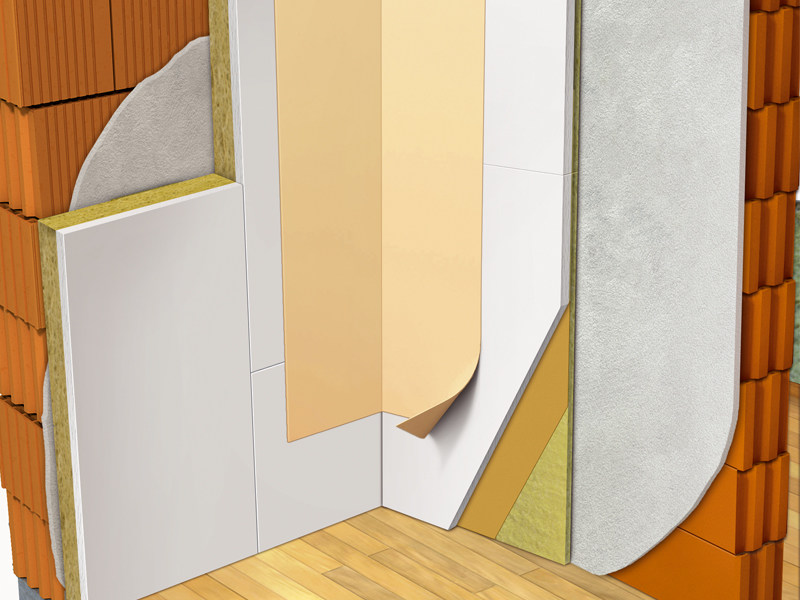 Thermal insulation panel / Sound insulation and sound absorbing panel in mineral fibre Aerorock ID-VPK - ROCKWOOL ITALIA