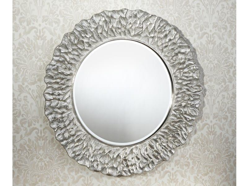 Framed round mirror FLORA SILVER - DEKNUDT MIRRORS