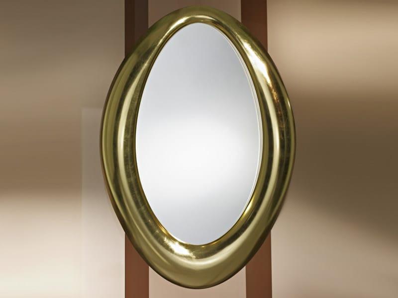 Framed oval mirror SENSUAL GOLD - DEKNUDT MIRRORS