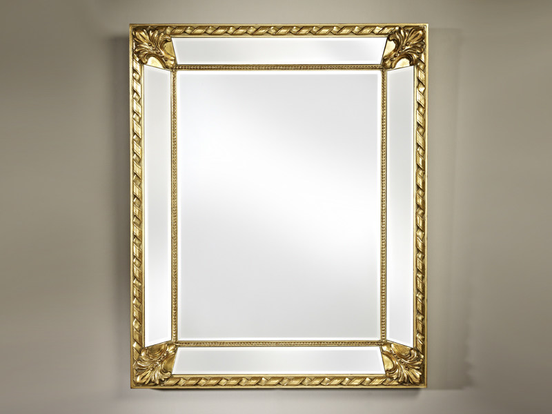 Framed rectangular mirror CASTELLO GOLD - DEKNUDT MIRRORS