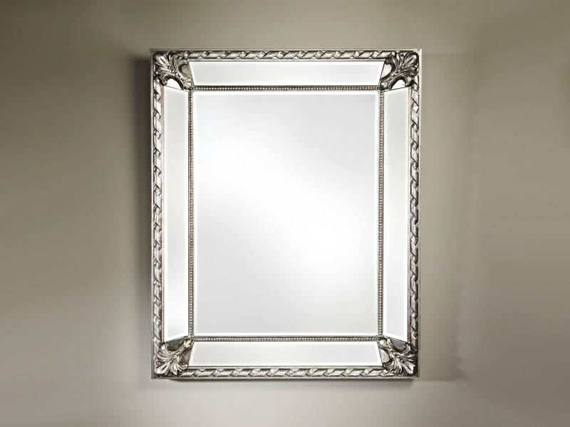 Framed rectangular mirror CASTELLO SILVER - DEKNUDT MIRRORS