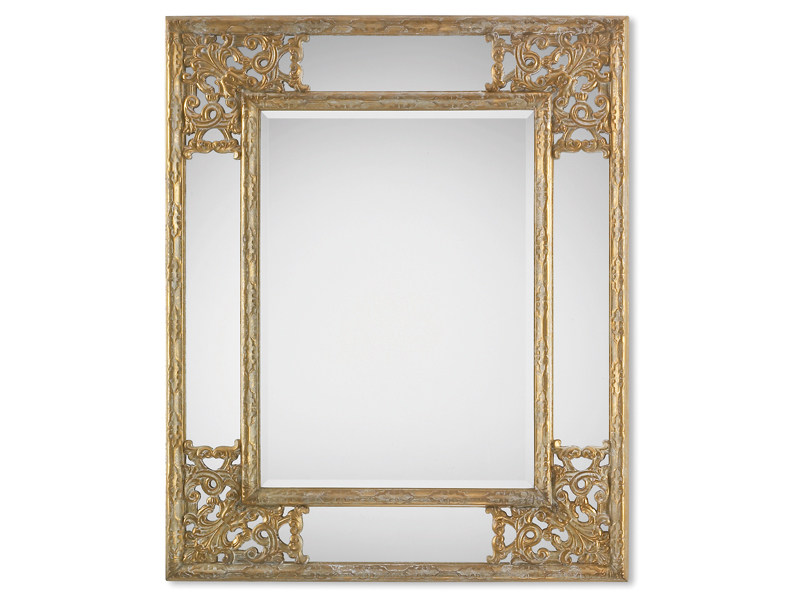 Framed rectangular mirror ANGOLO GOLD - DEKNUDT MIRRORS