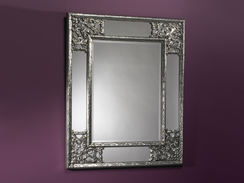 Framed rectangular mirror ANGOLO SILVER - DEKNUDT MIRRORS
