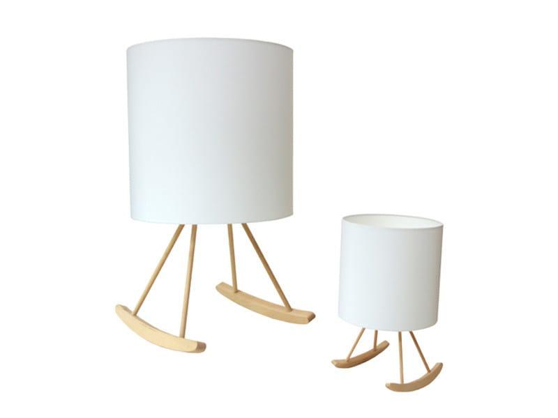 Wooden floor lamp ROCKING LAMP - Mineheart