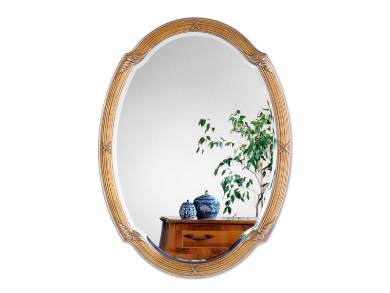 Framed oval mirror SUITE - DEKNUDT MIRRORS