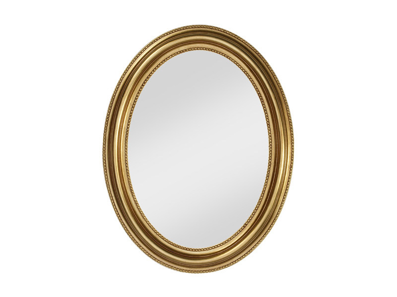 Framed oval mirror PEARL GOLD - DEKNUDT MIRRORS