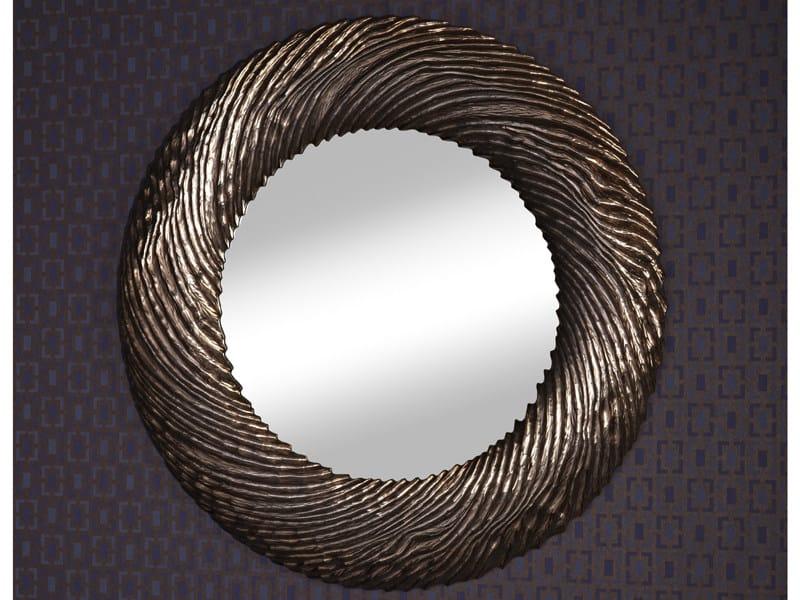 Framed round mirror FLOW COPPER - DEKNUDT MIRRORS