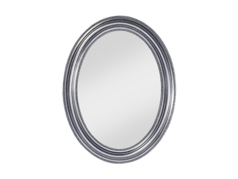 Framed oval mirror PEARL SILVER - DEKNUDT MIRRORS