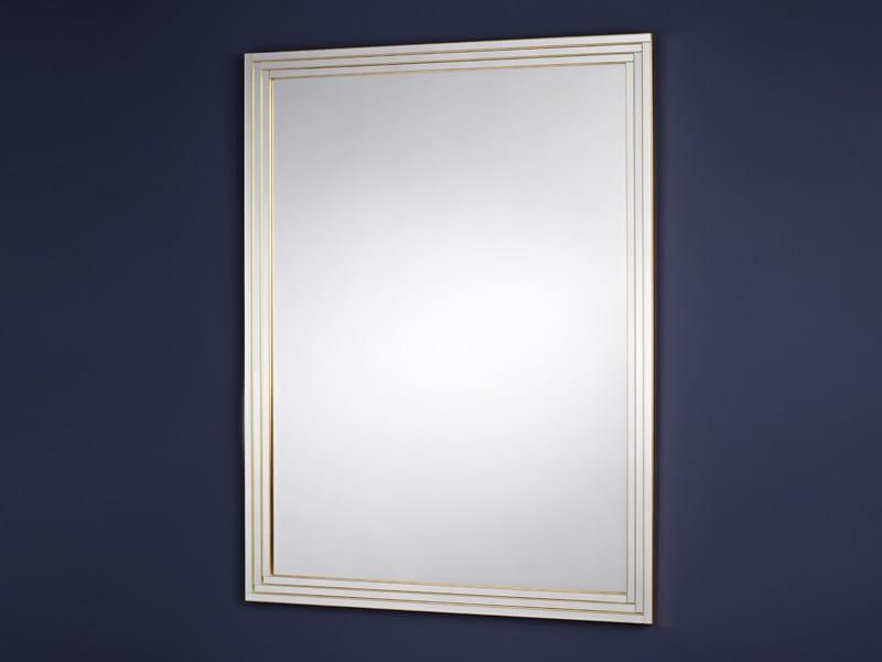 Rectangular framed mirror STEPS GOLD - DEKNUDT MIRRORS
