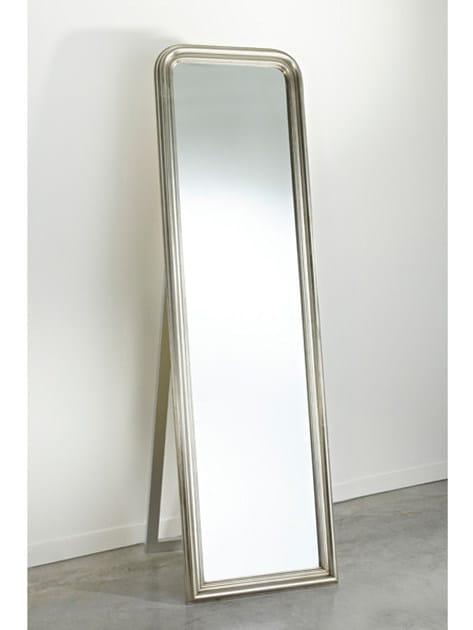 Framed freestanding rectangular mirror STANDING SILVER - DEKNUDT MIRRORS
