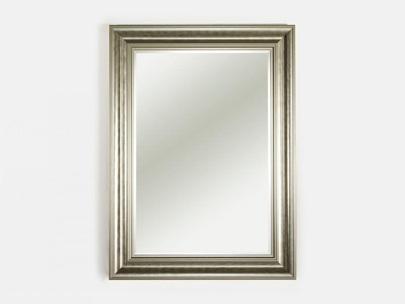 Framed rectangular mirror BERLIN SILVER - DEKNUDT MIRRORS