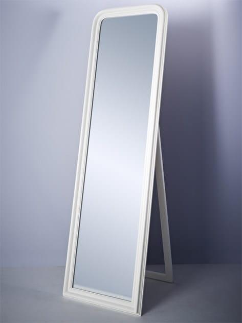 Framed rectangular mirror STANDING WHITE - DEKNUDT MIRRORS