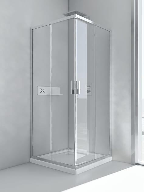 Box doccia in alluminio e vetro con porta scorrevole - Box doccia relax ...