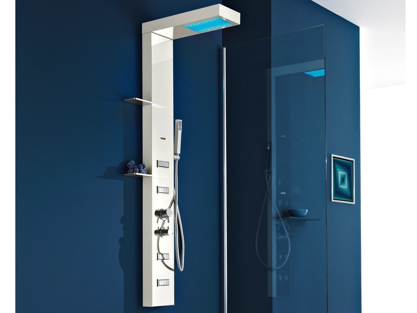 Multifunction shower panel for chromotherapy LIGHT PLUS | Shower panel by Gruppo Geromin