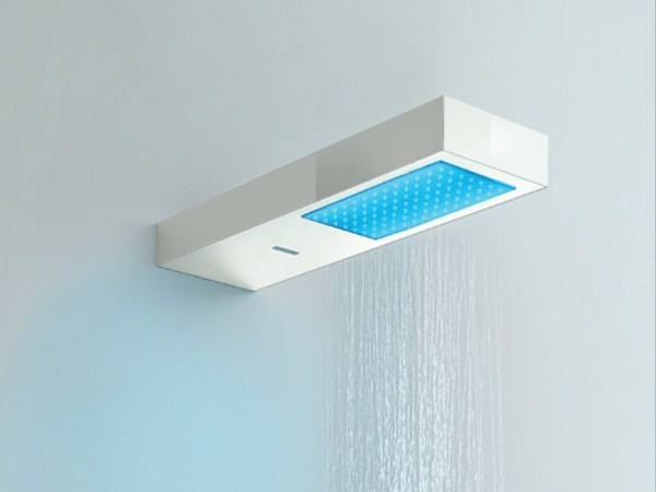 Wall-mounted rain shower for chromotherapy LIGHT PLUS   Overhead shower - HAFRO
