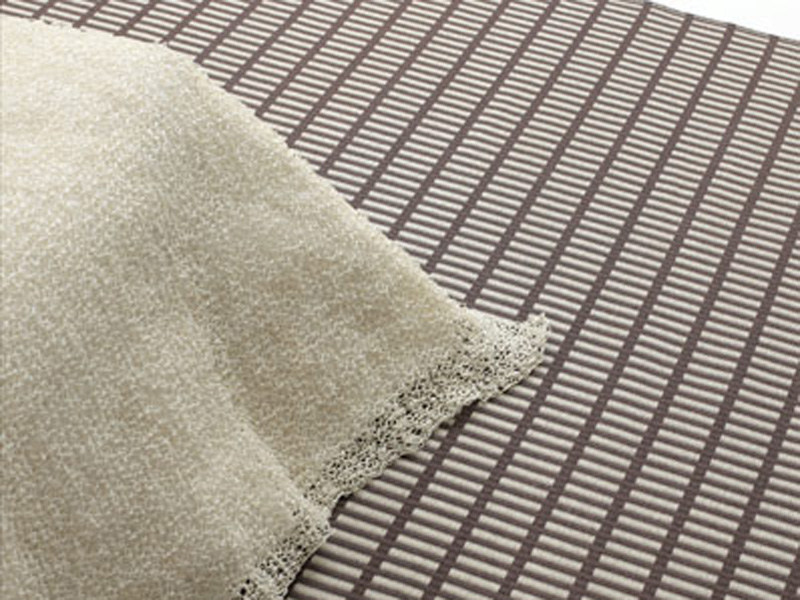 Striped handmade rectangular paper rug NEW YORK - Woodnotes