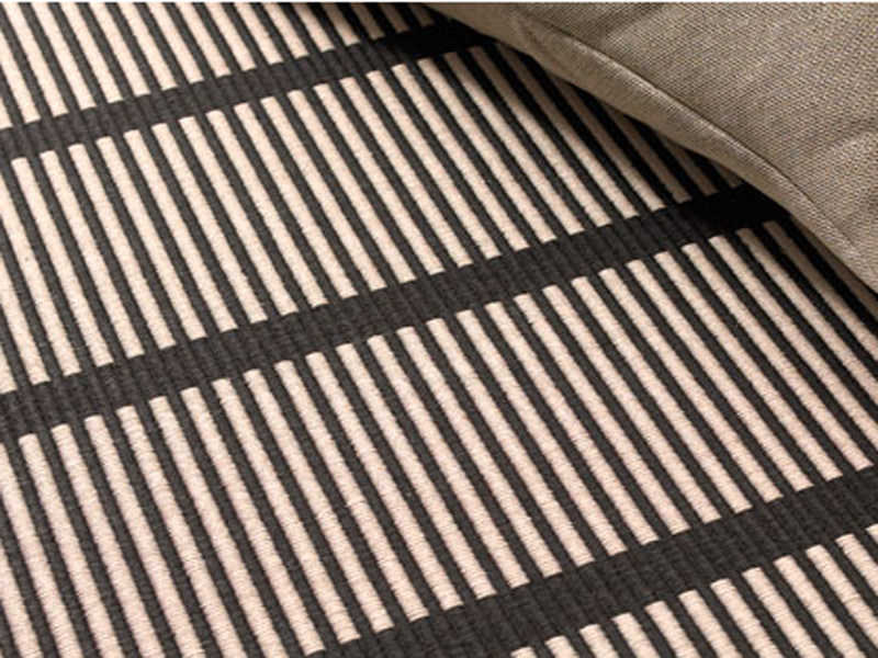 Striped handmade rectangular rug CUT STRIPE - Woodnotes