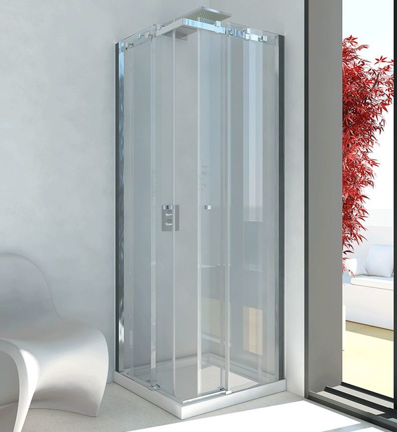 Shower cabin with sliding door AXIA A - RELAX