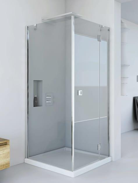 Box doccia angolare in cristallo petrarca af f3 relax - Box doccia relax ...