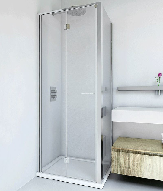 Shower cabin with folding door LIGHT PS + F4 - RELAX