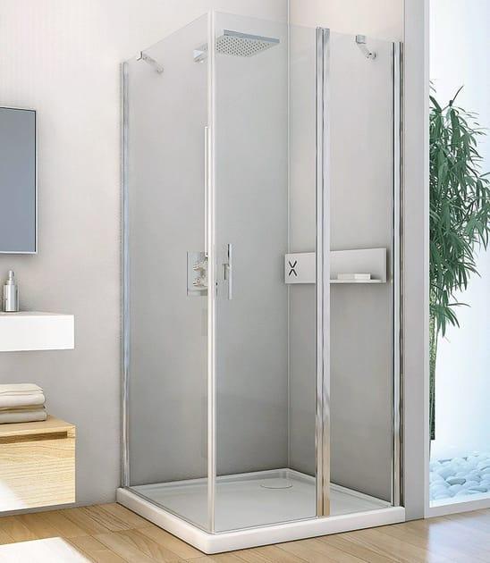 Corner shower cabin LIGHT PA + F3 - RELAX