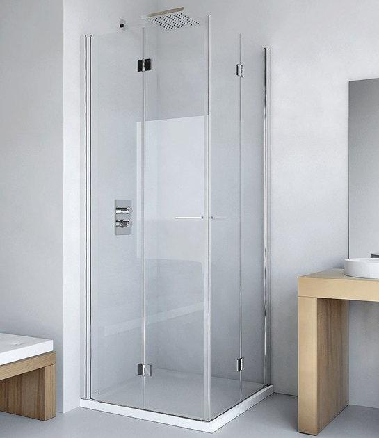 Shower cabin with folding door LIGHT AS + AS - RELAX