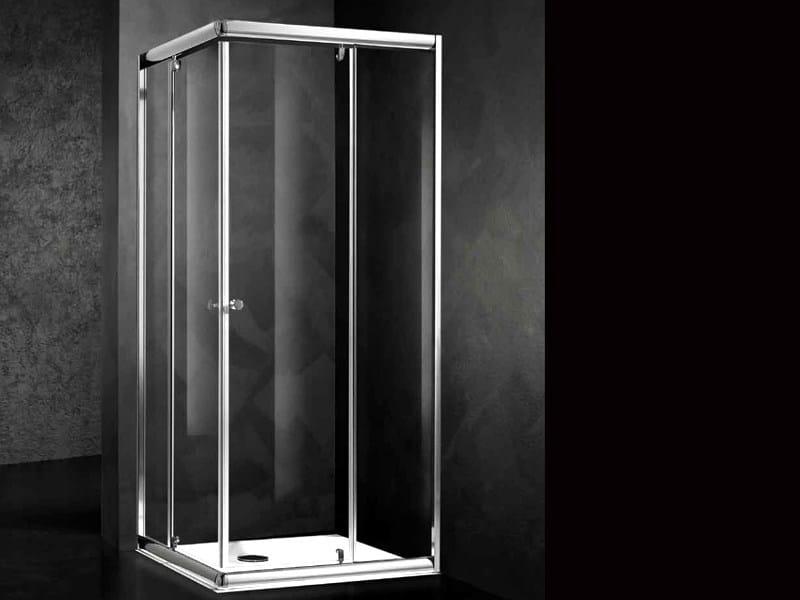 Box doccia angolare in cristallo loft ab relax - Box doccia relax ...